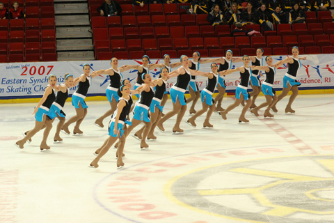 "Members of ""Ice Force One"" based out of Northern Virginia, Maryland and Washington, D.C., perform in a recent competition. (Photo: Actionphotos.com)"