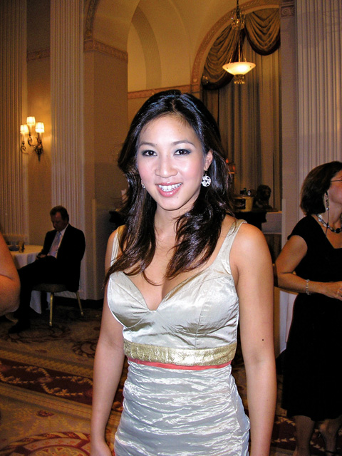 Michelle Kwan poses for a photo during the Women's Sports Foundation awards. (Photo: Lois Elfman)